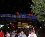 Fans leave SunTrust Park