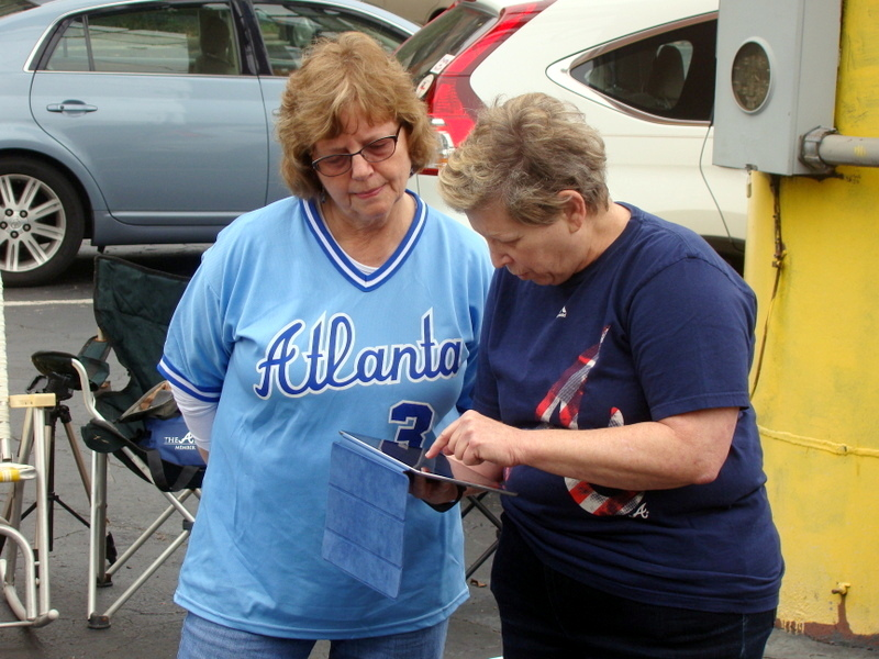 Nancy and Arlene go high tech