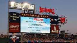 Welcome message to 400 Fan Club at Nationals Park